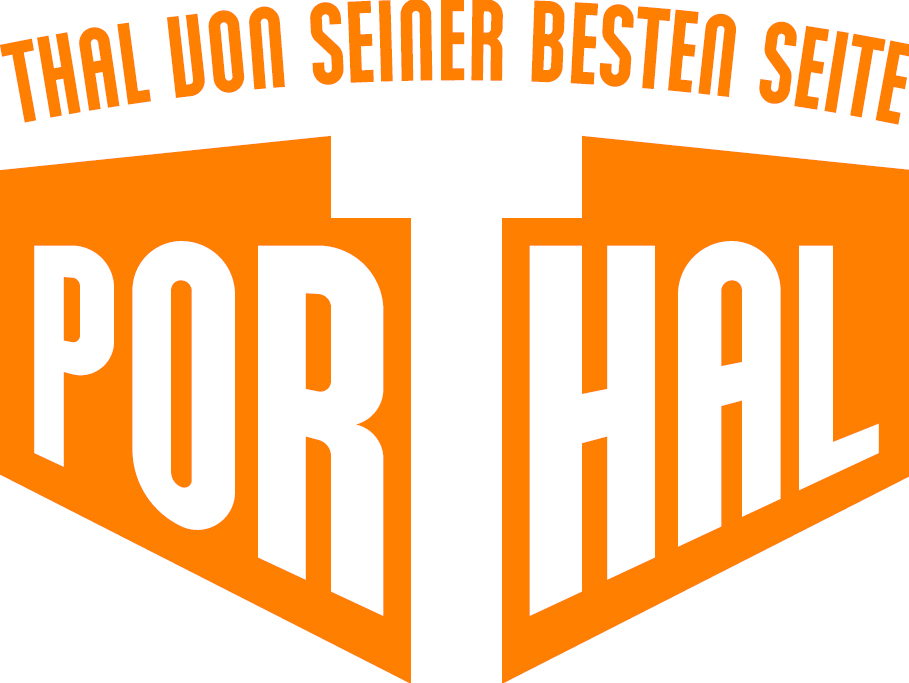 PorThal Logo orange weiss